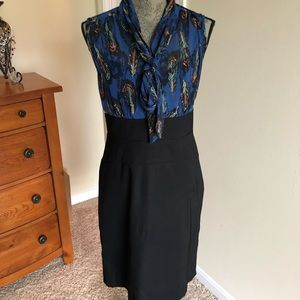AGB black and blue dress